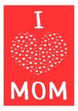 Mamá del amor de la postal I Forma del corazón, marco ilustración del vector