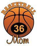 Mamá del baloncesto con número Foto de archivo
