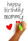 Mamá del feliz cumpleaños Imagen de archivo