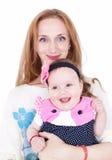 Mamá e hija felices Foto de archivo libre de regalías