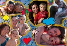 Mamá e hijo de la composición Fotos de archivo libres de regalías