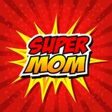 Mamá feliz del superhéroe del día de la madre Fotografía de archivo libre de regalías