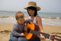 Mamã & filho Imagem de Stock Royalty Free