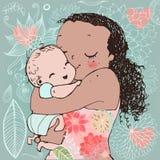 Mamã bonito com criança Fotografia de Stock Royalty Free