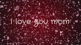 Mamã da animação eu te amo, o dia de mãe, cartão ilustração do vetor