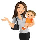 Mamã de funcionamento ilustração royalty free