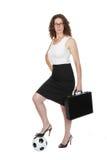 Mamã do futebol ou mulher de negócio? Fotografia de Stock