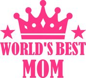 Mamã do ` s do mundo a melhor ilustração royalty free