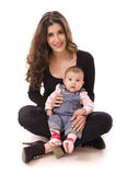 Mamã e bebê Fotografia de Stock