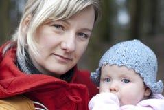 Mamã e bebê Fotos de Stock Royalty Free