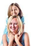 Mamã e daughte felizes Fotografia de Stock Royalty Free