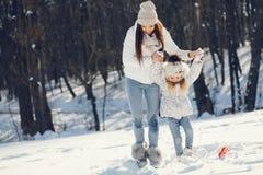Mamã e filha fotografia de stock