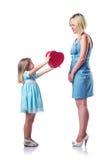 Mamã e filha felizes Imagens de Stock Royalty Free