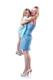 Mamã e filha felizes Imagens de Stock