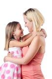 Mamã e filha felizes Fotos de Stock Royalty Free