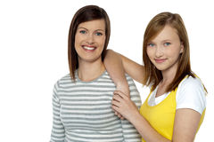 Mamã e filha, intelectuais modernos Imagem de Stock Royalty Free