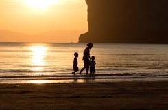 Mamã e filhos Fotos de Stock Royalty Free