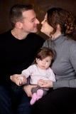 Mamã e paizinho felizes Fotos de Stock Royalty Free