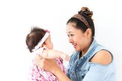 Mamã e seu bebê Fotos de Stock Royalty Free
