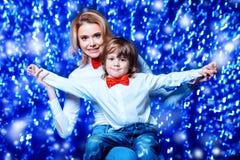 Mamã e seu filho imagens de stock royalty free