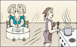 A mamã está cozinhando Foto de Stock Royalty Free