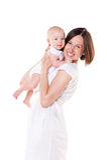 Mamã feliz com seu bebê foto de stock