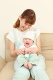 Mamã japonesa e seu bebê Fotos de Stock Royalty Free