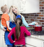 Mamã oprimida e frustrante Foto de Stock Royalty Free