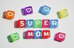 Mamã super - o dia de mãe feliz Fotos de Stock Royalty Free