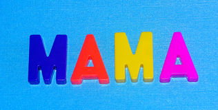 Mamãe com fundo azul Fotografia de Stock