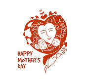 Mam and baby for happy mothers day Stock Photography