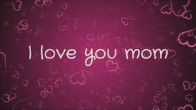 Mam? de la animaci?n te amo, el d?a de madre, tarjeta de felicitaci?n libre illustration