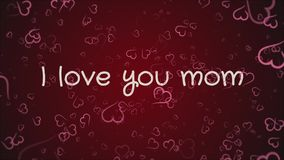 Mam? de la animaci?n te amo, el d?a de madre, tarjeta de felicitaci?n stock de ilustración