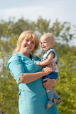Mam e miúdo Imagem de Stock