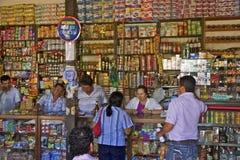 Mamã-e-paizinho-loja, Barichara, Colômbia Fotos de Stock Royalty Free