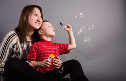 Mam et fils Photo libre de droits