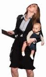 Mamã para fora de trabalho forçada Fotos de Stock