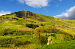 Mam Tor. View of Mam Tor from above Winnats Pass near Castleton in the Peak District National Park Derbyshire England Stock Photos