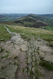 Mam Tor Autumn landscape in morning in Peak District Royalty Free Stock Photos