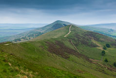 Mam Tor Derbyshire England with stormy sky Stock Photos