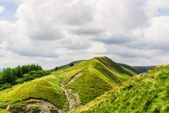 Mam Tor hill near Castleton and Edale in the Peak District National Park. England, UK stock image