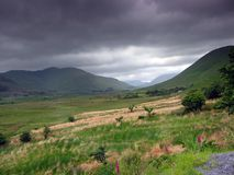Mam Valley. Irish landscape, valley in Joyce's Country stock photos