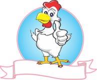 Mama chicken Stock Photo