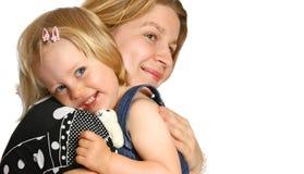 Mama con su hija del niño Fotografía de archivo