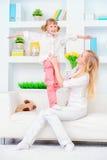 Mama daudghter liefdes Royalty-vrije Stock Afbeelding
