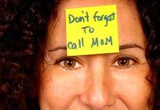 Mama de la llamada Imágenes de archivo libres de regalías