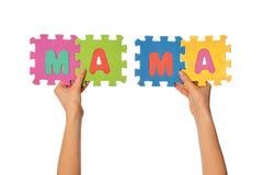 Mama di parola Immagine Stock