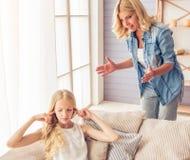 Mama e hija Imágenes de archivo libres de regalías