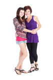 Mama e hija adolescente Fotos de archivo libres de regalías