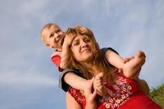 Mama e hijo Fotos de archivo libres de regalías